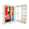 Тканевой шкаф для одежды №28109